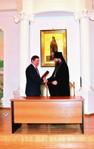 Подписание договора о сотрудничестве между администрацией Тамбовской области и Тамбовской епархией