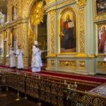Митрополит Феодосий совершил всенощное бдение в Спасо-Преображенском соборе города Тамбова