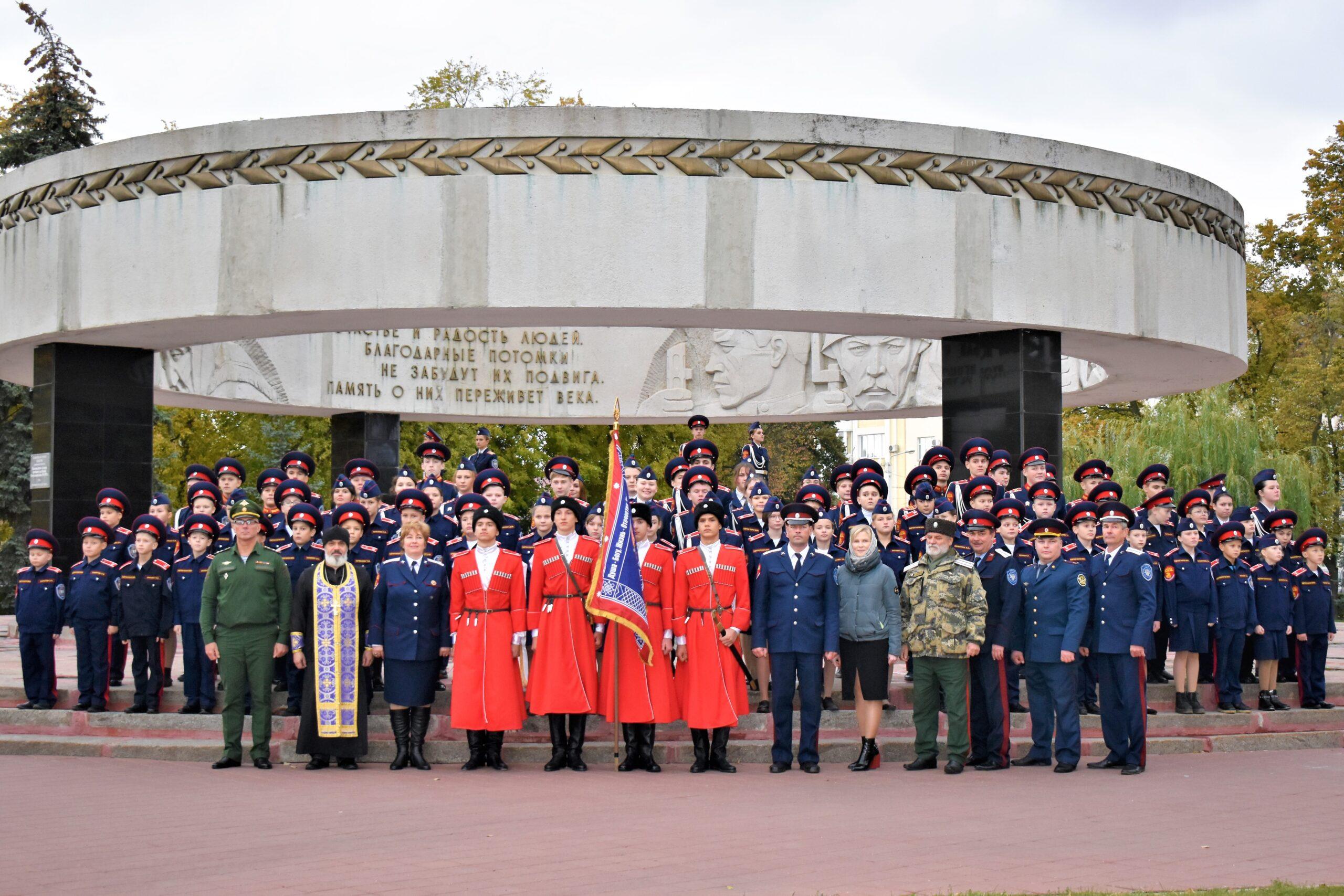 Кадеты Казачьей школы приняли присягу на соборной площади города Тамбова