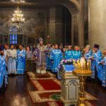 Накануне праздника Рождества Пресвятой Богородицы митрополит Феодосий совершил всенощное бдение в Спасо-Преображенском соборе города Тамбова