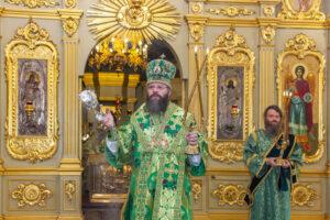 литургия в Спасо-Преображенском соборе города Тамбова