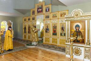 освящение храма в честь святой Матроны Московской в селе Осиновка