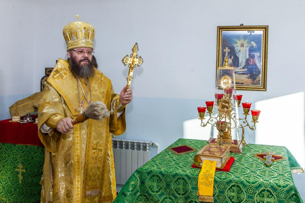 освящение храма в честь святой Матроны Московской в селе Шмаровка