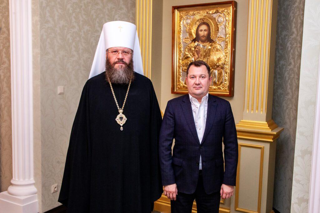 Встреча митрополита с М.Б. Егоровым